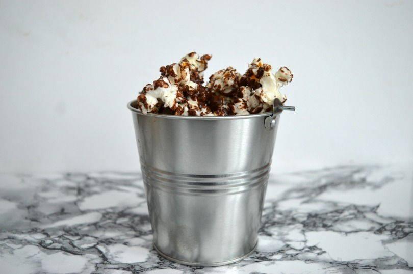 cocnut chocolate popcorn
