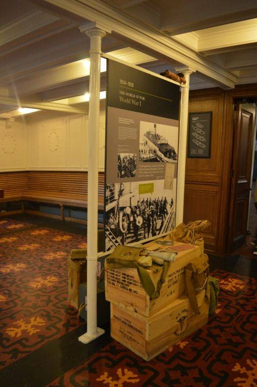 SS Nomadic exhibit of the war years