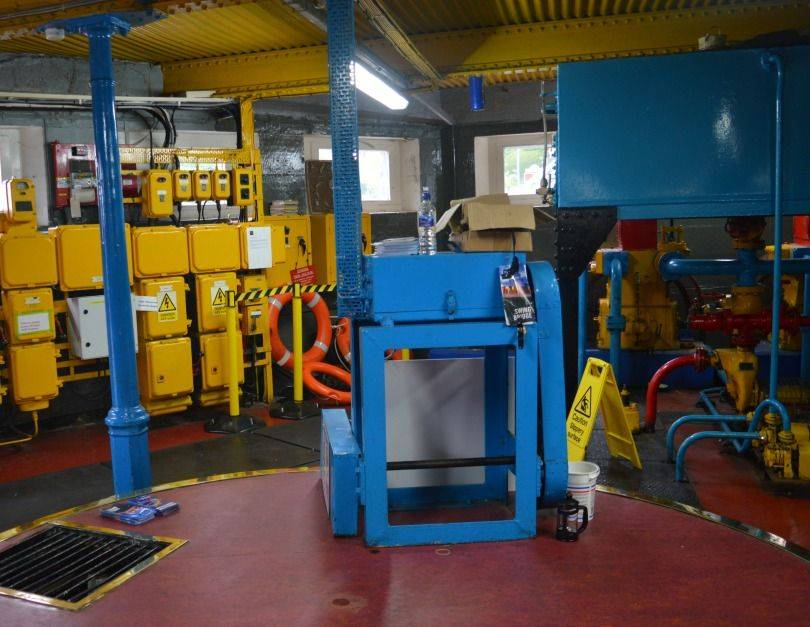 Inside the pump room in the Swing Bridge Newcastle