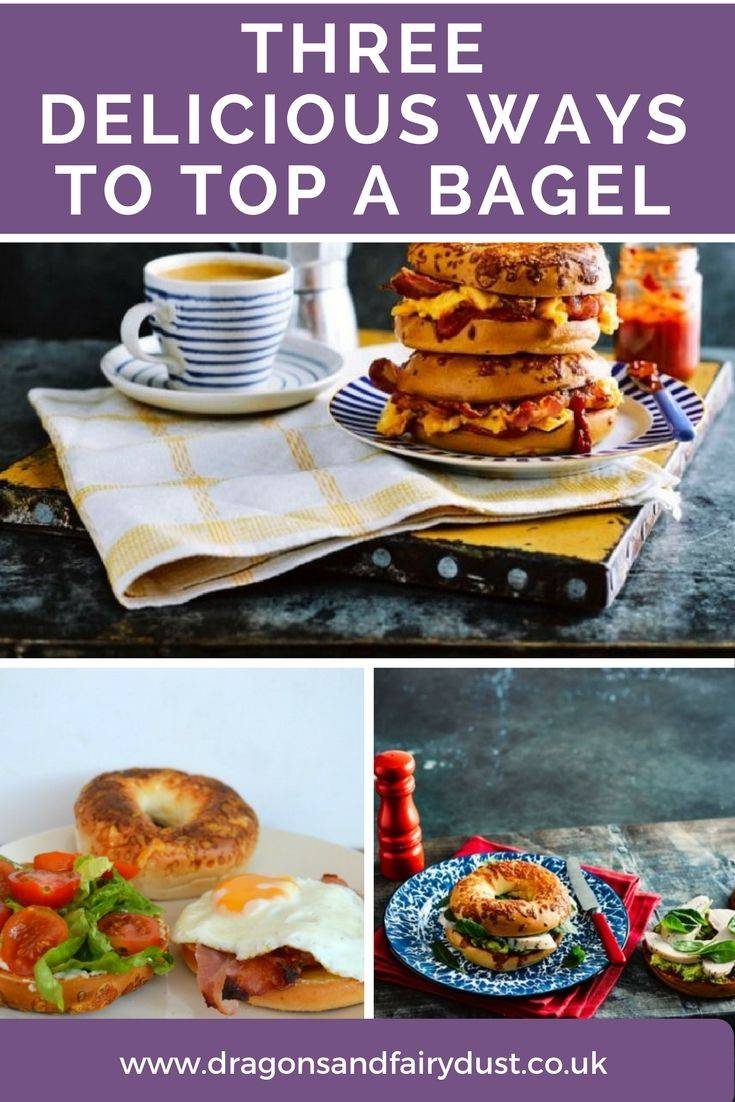 Three delicious ways to top a bagel