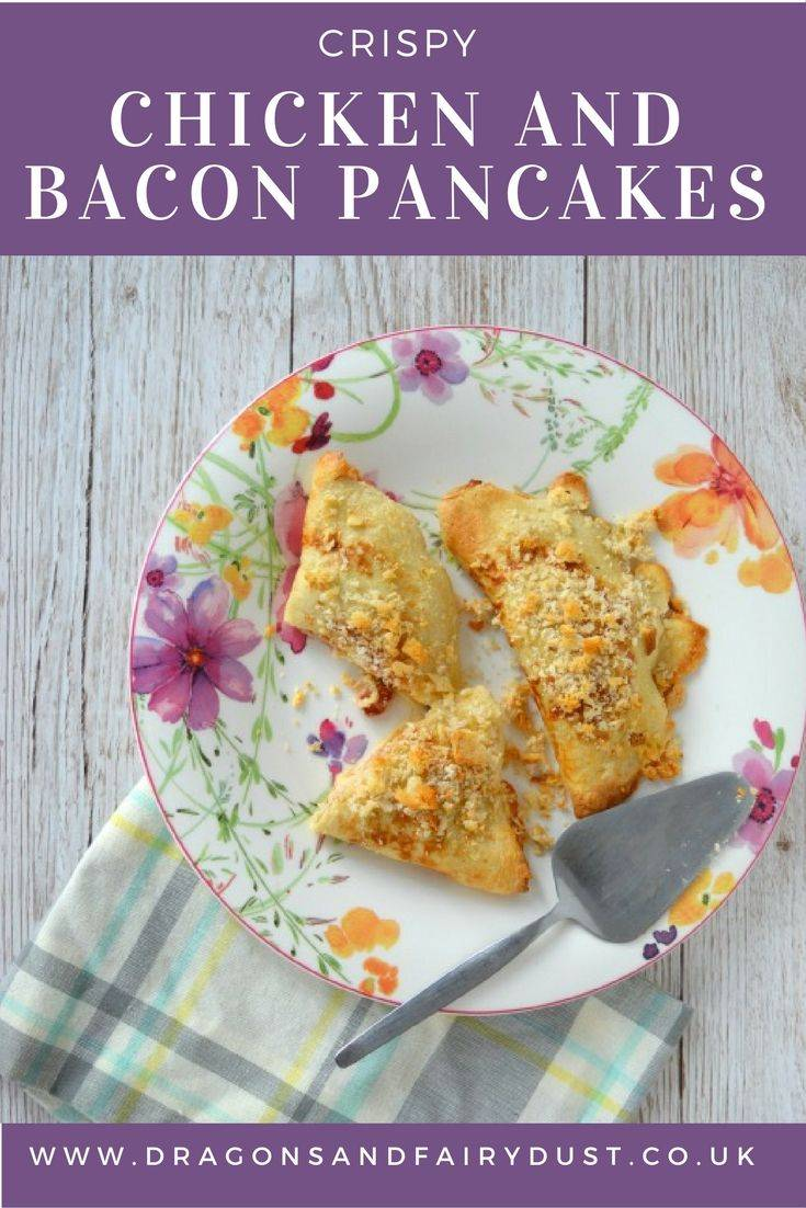 Chicken and bacon crispy pancakes. A savoury pancake for a delicious dinner