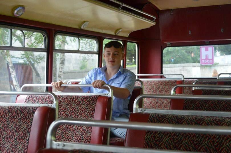 vintage bus tour of Newcastle