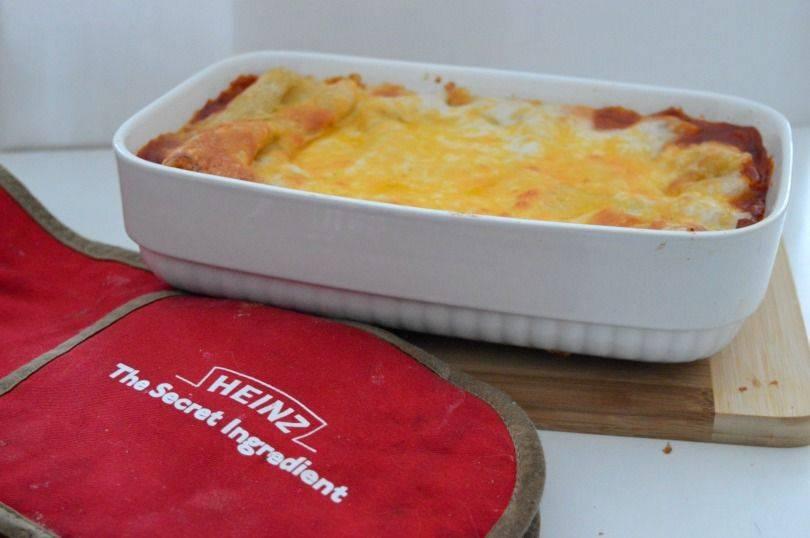 Baked bean lasagne