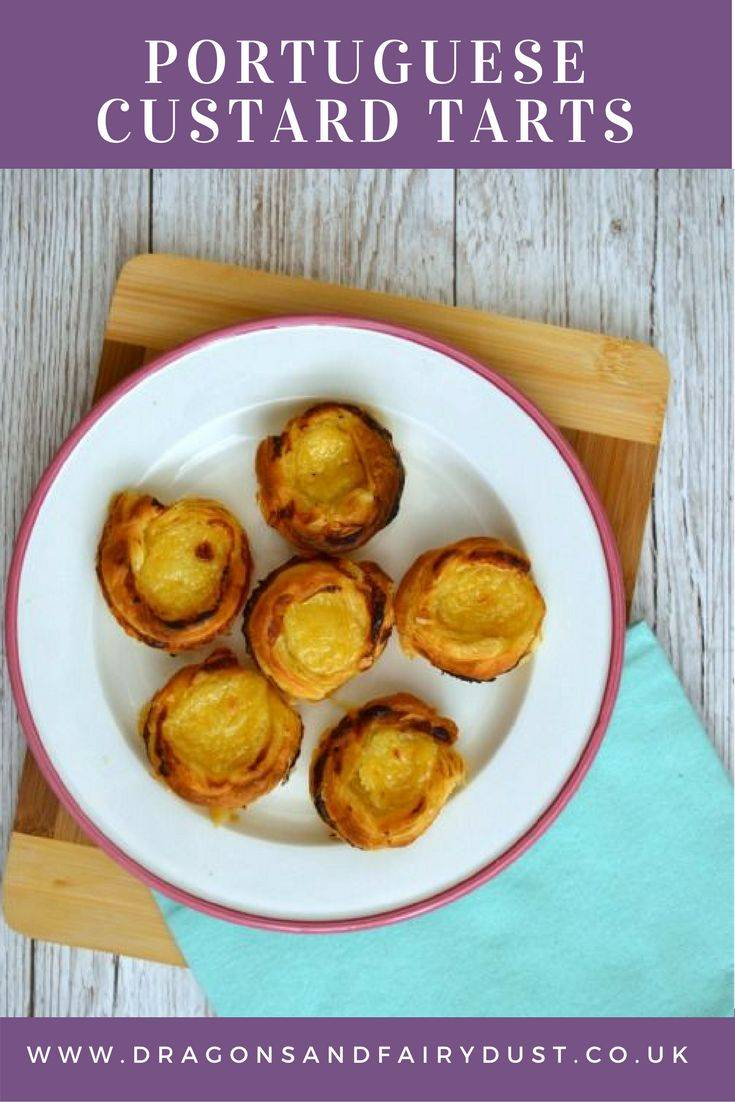 Portugese Custard Tarts - Inspired by Beauty and the Beast: Lost in a Book by Jennifer Donelly