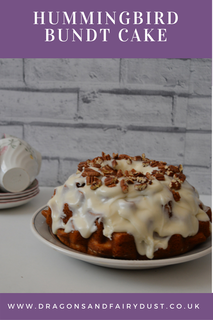 Hummingbird Bundt Cake. Hummingbird cake is a traditional cake from Southern America made with pineapple and banana for a delicious teatime treat