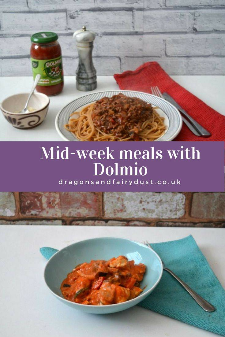 Quick and easy midweek meals made using Dolmio bolognese sauce