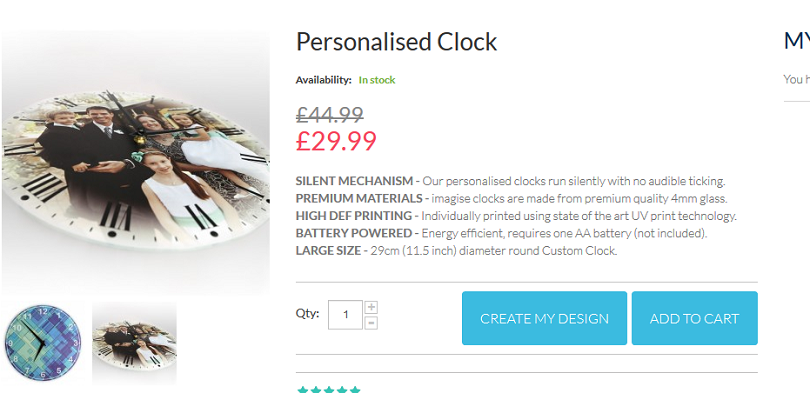 How to create an Imagise personalised clock