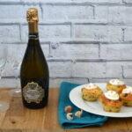 Simnel muffins and permier estates procecco