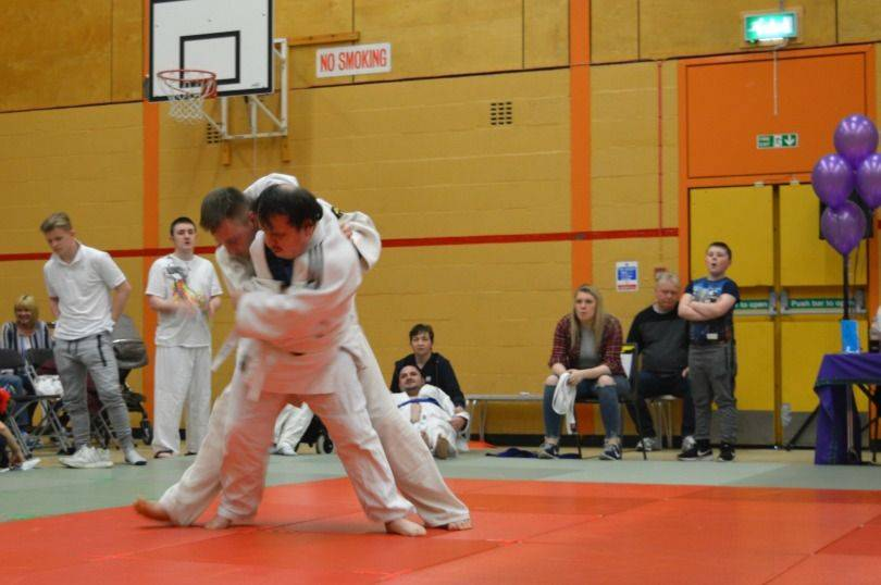 fighting in the judo championships
