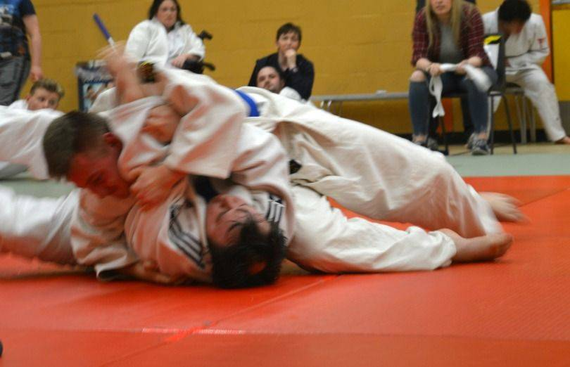 fighting judo