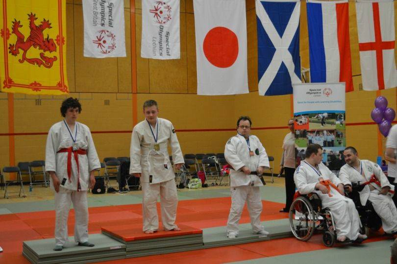 Gaining the gold medal at the Judo Championships