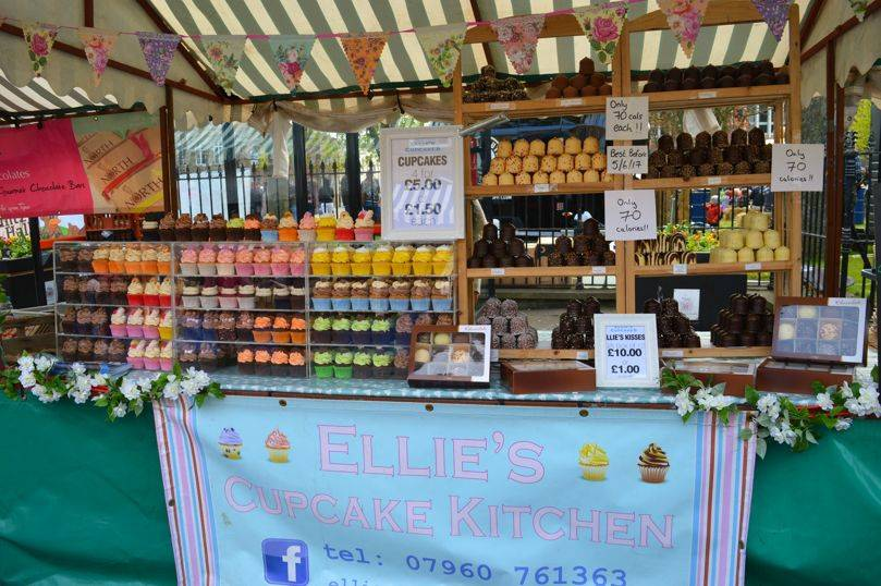 Ellies cupcake kitchen at proper food festival north shields
