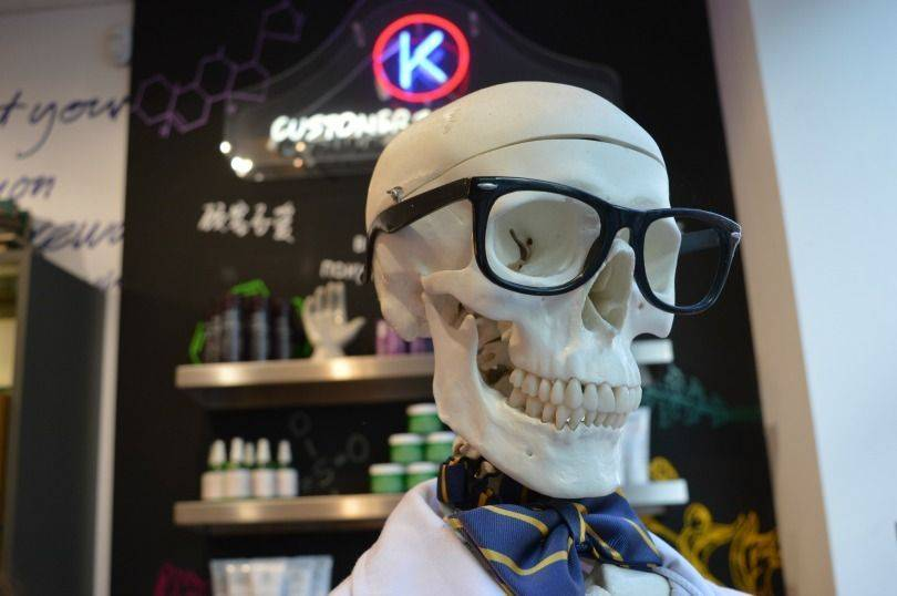 Mr Bones in Kiehl's Newcastle