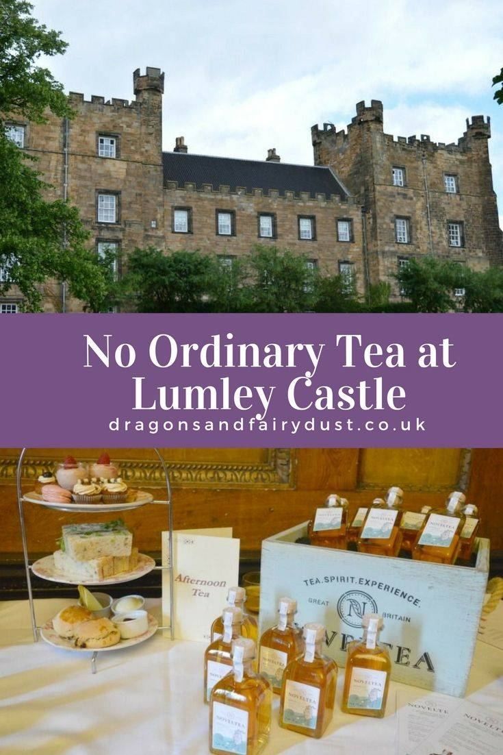 Afternoon tea at Lumley Castle, North East England, featuring NovelTea to make No Ordinary Tea. This is an afternoon tea experience that must be tried
