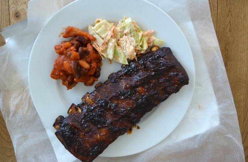 Sticky barbecue ribs