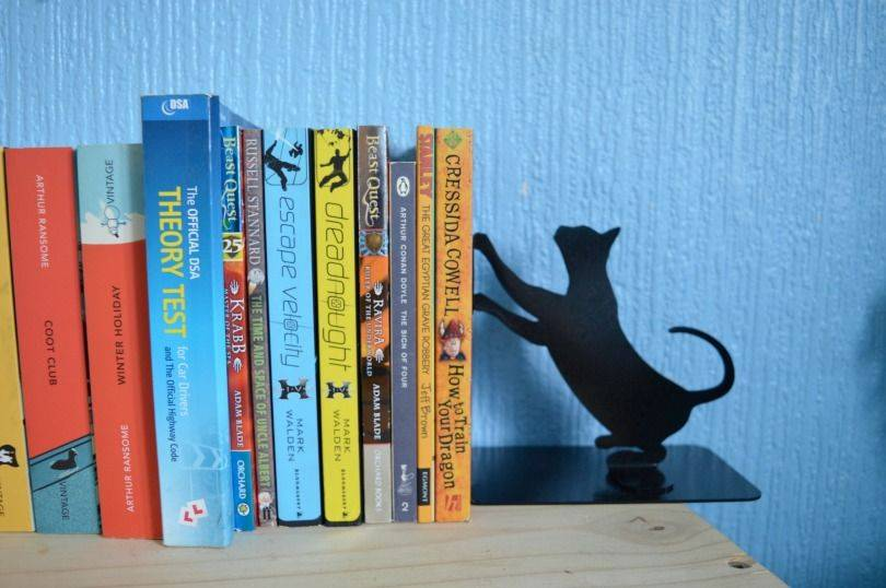Cat bookends from uncommon goods