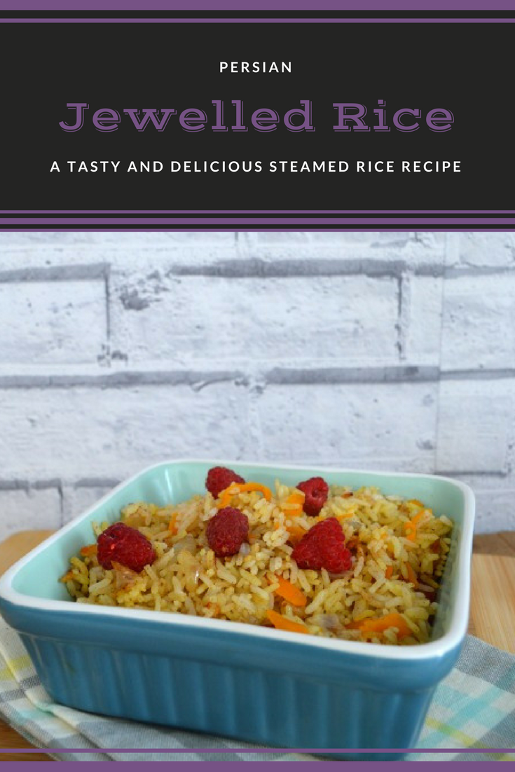 Persian jewelled rice. A lightly spiced and delicious rice recipe