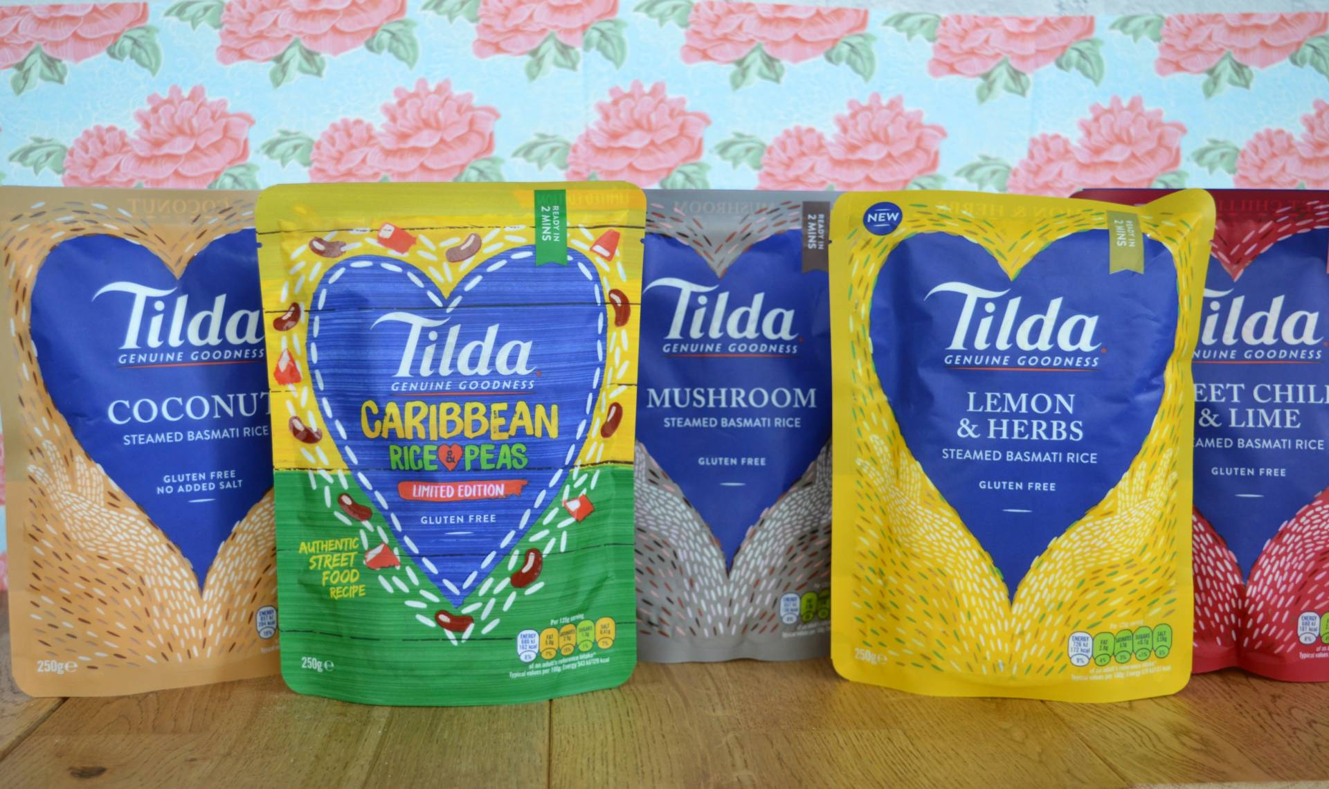 Tilda Basmait rice pouches
