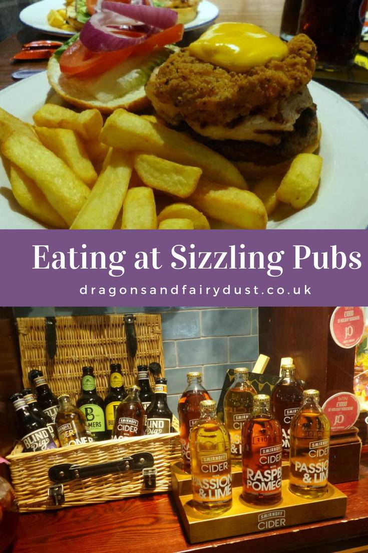 Eating out at a Sizzling Pub