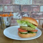 kale and quinoa burger
