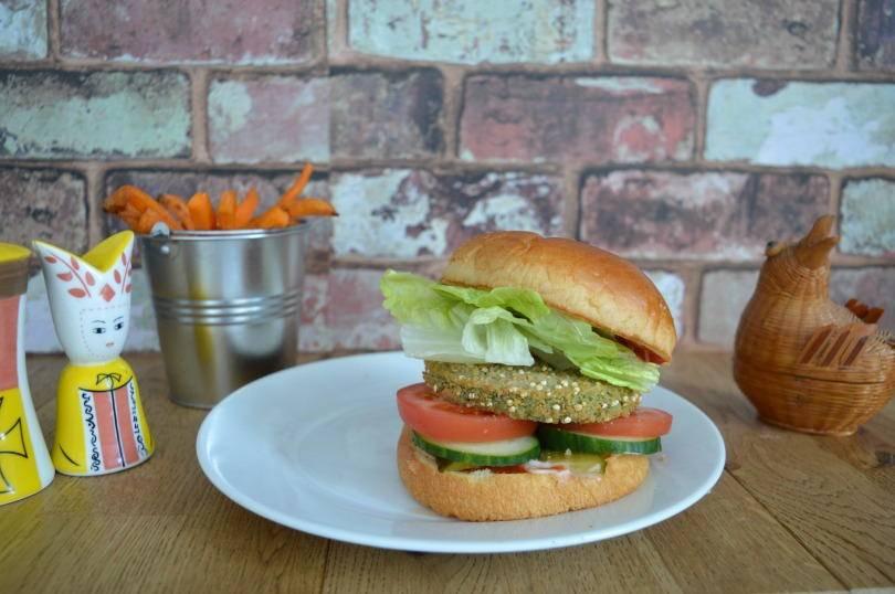 kale and quinoa burger