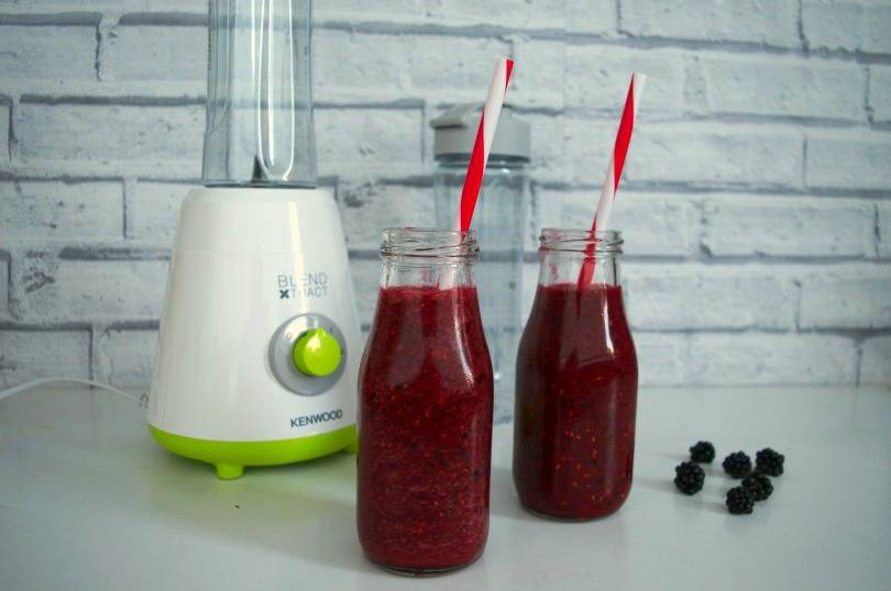 kenwood blender and berry smoothies