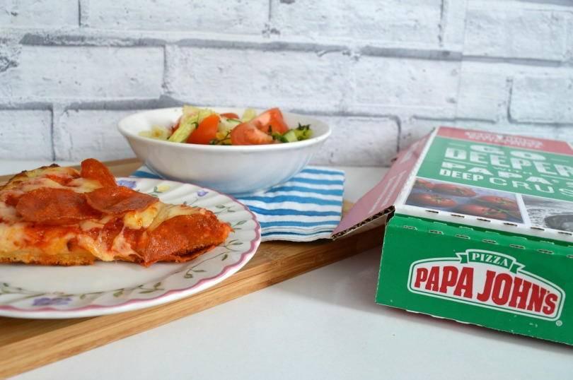 Papa Johns deep crust pizza