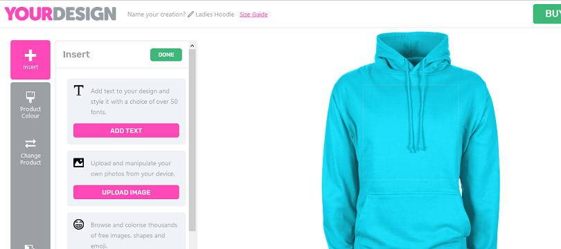 Creating a hoodie from YourDesign