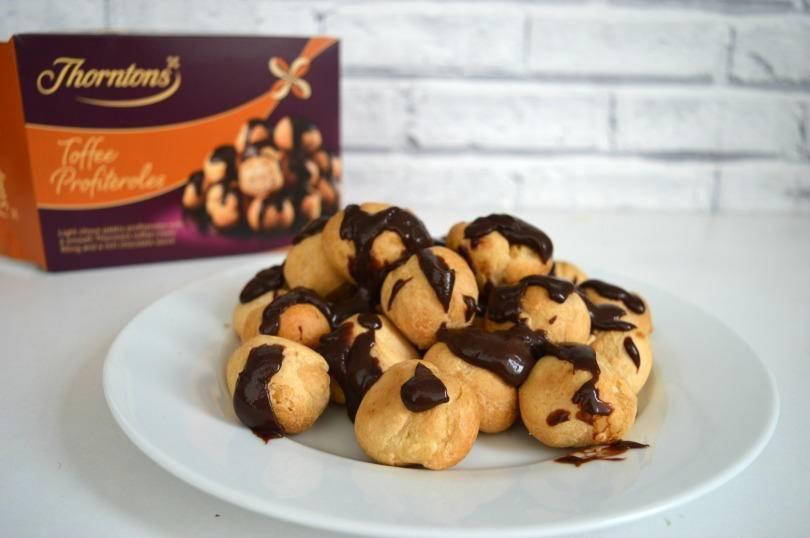 Thorntons chocolate profiteroles