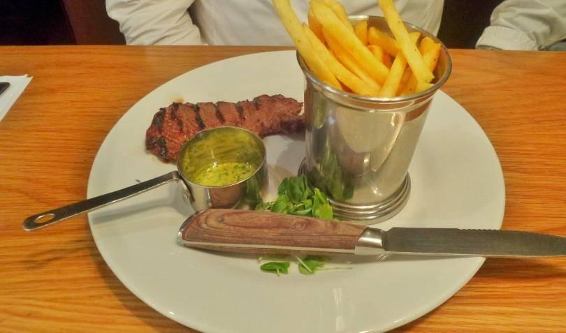 5 oz steak at Cafe Rouge