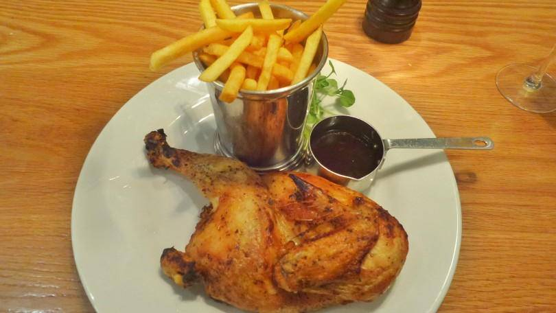 demi poulet at Cafe Rouge