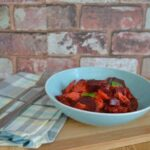 Chicken and beetroot curry