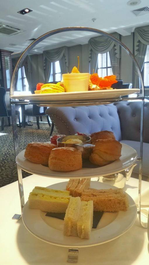 Afternoon tea cake stand at the Vermont Hotel Newcastle