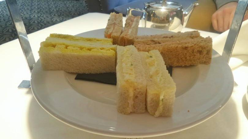 Sandwiches served for afternoon tea at Vermont Hotel Newcastle