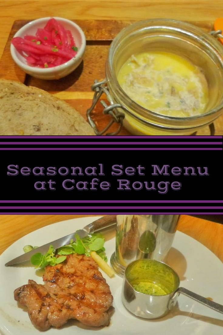 Trying out the new seasonal set menu at Cafe Rouge in Newcastle