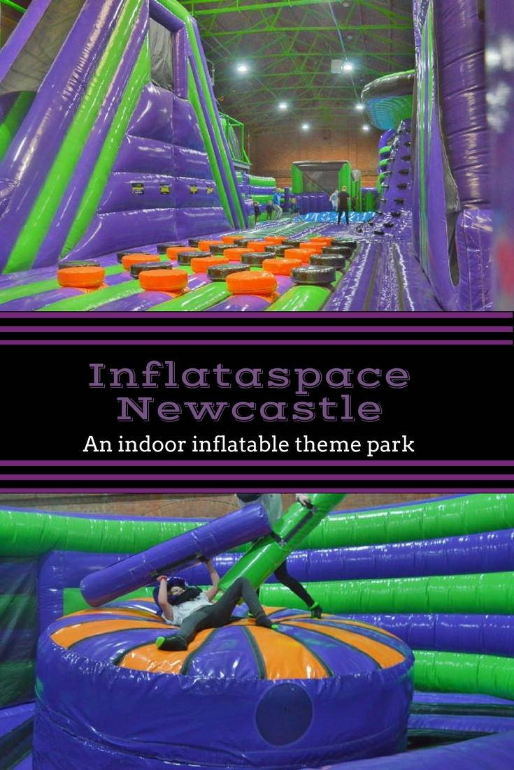 Inflataspace Newcastle. An indoor inflatable theme park which is great for visiting with kids