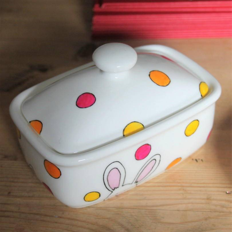 Easter bunny butter dish