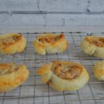 Smoked almond and banana pinwheels
