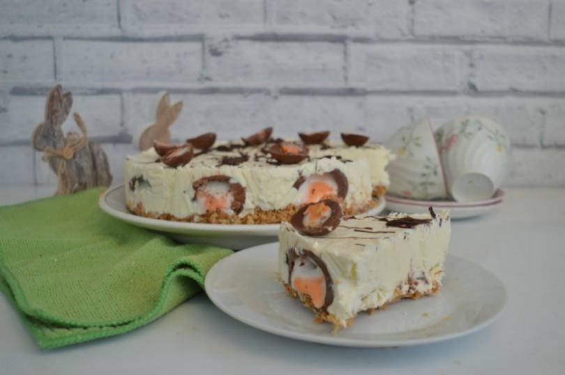 CVadbury creme egg cheesecake