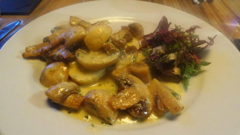 Garlic mushrooms at Fells Kitchen
