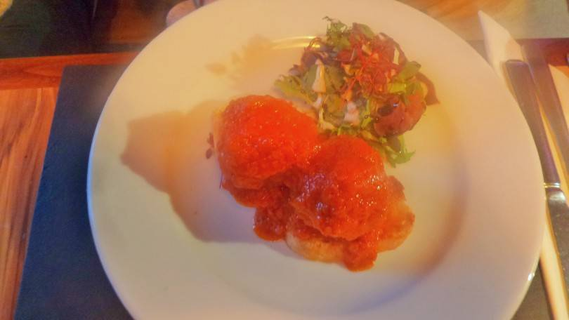 Meatball starter at Fells Kitchen