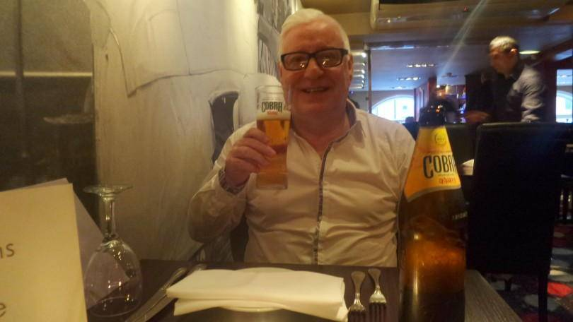 Cobra beer at Sachins Newcastle