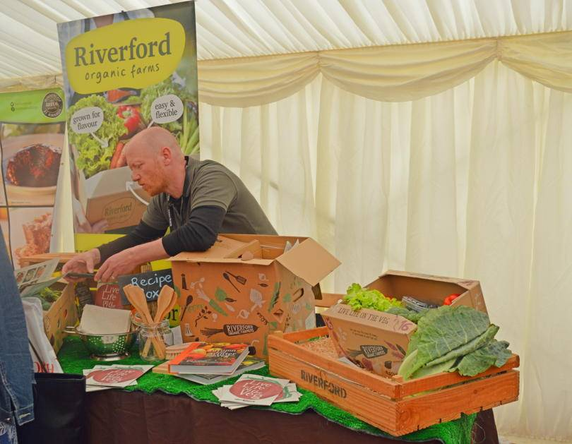 Riverford organic veg at Living North Live