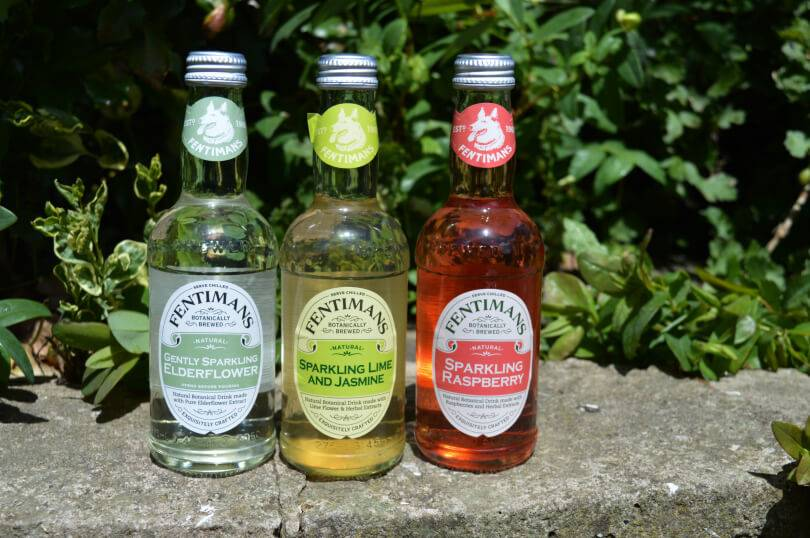 Fentimans soft drinks - sparkling elderflower, sparkling lime and jasmine and sparkling raspberry