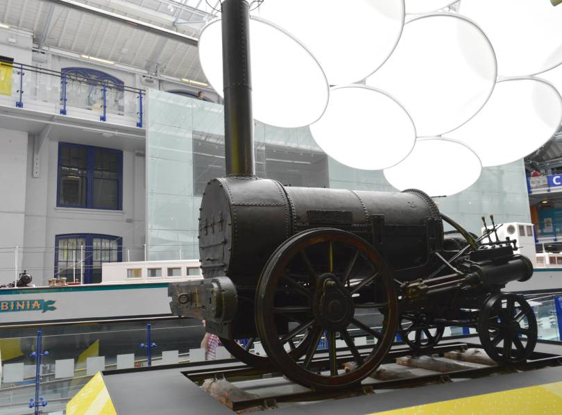 Stephensons rocket at the discovery museum