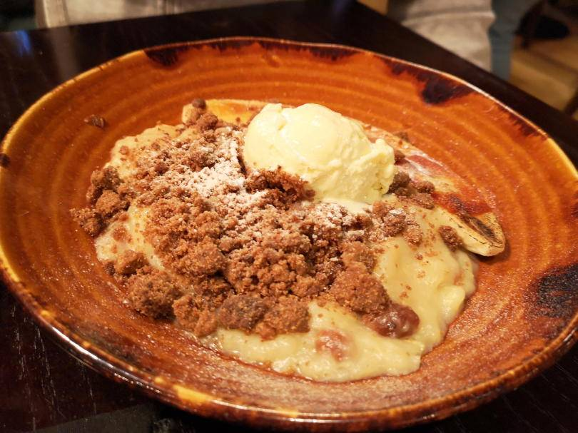 banana run and raisin crumble at El Paso Jesmond