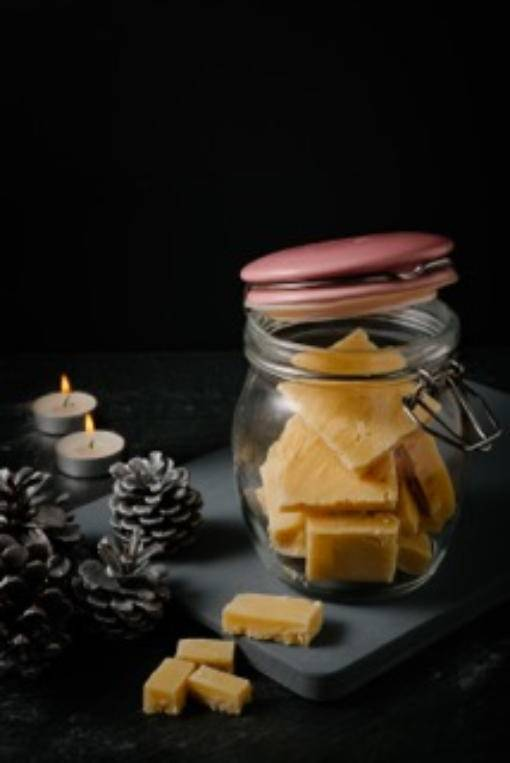 Vanillalicious Fudge in a jar
