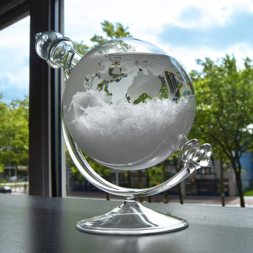 Storm Globe Glass on a desk