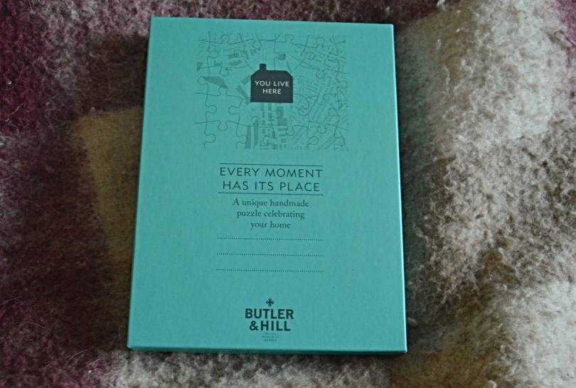 Butler & Hill jigsaw box on blanket
