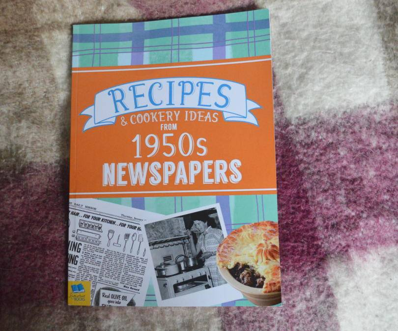 Recipes from the 1950s book on blanket